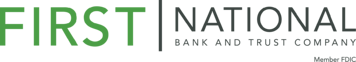 FNBT Logo Green&Gray Outlined With Member FDIC